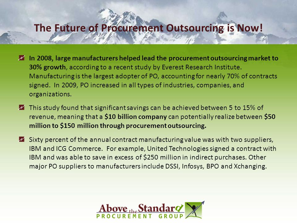 The Future of Procurement Outsourcing is Now!