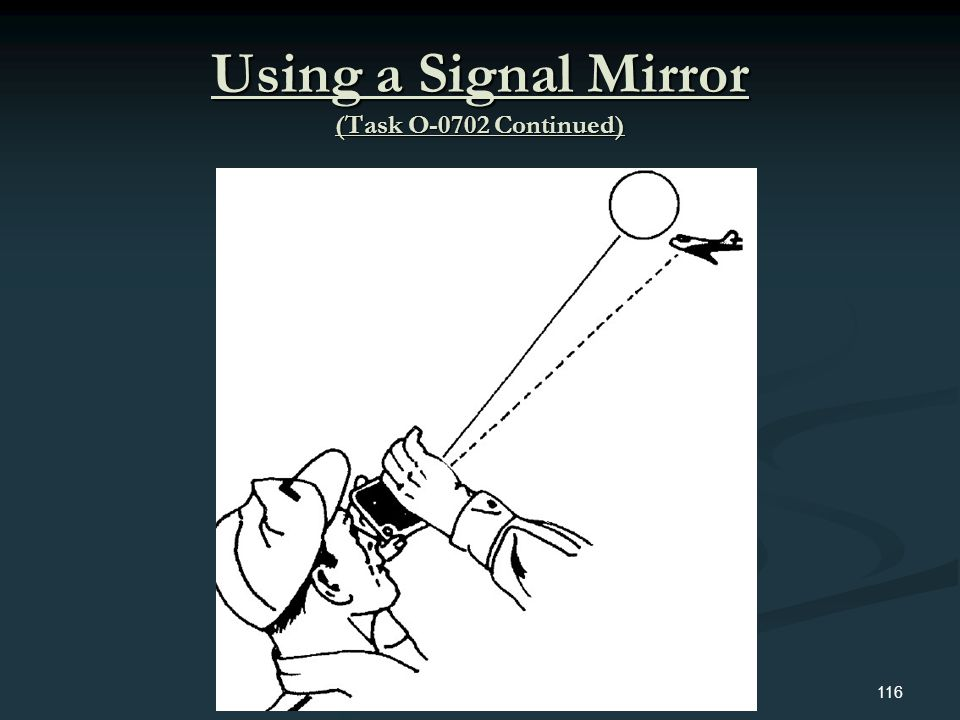 Using a Signal Mirror (Task O-0702 Continued)