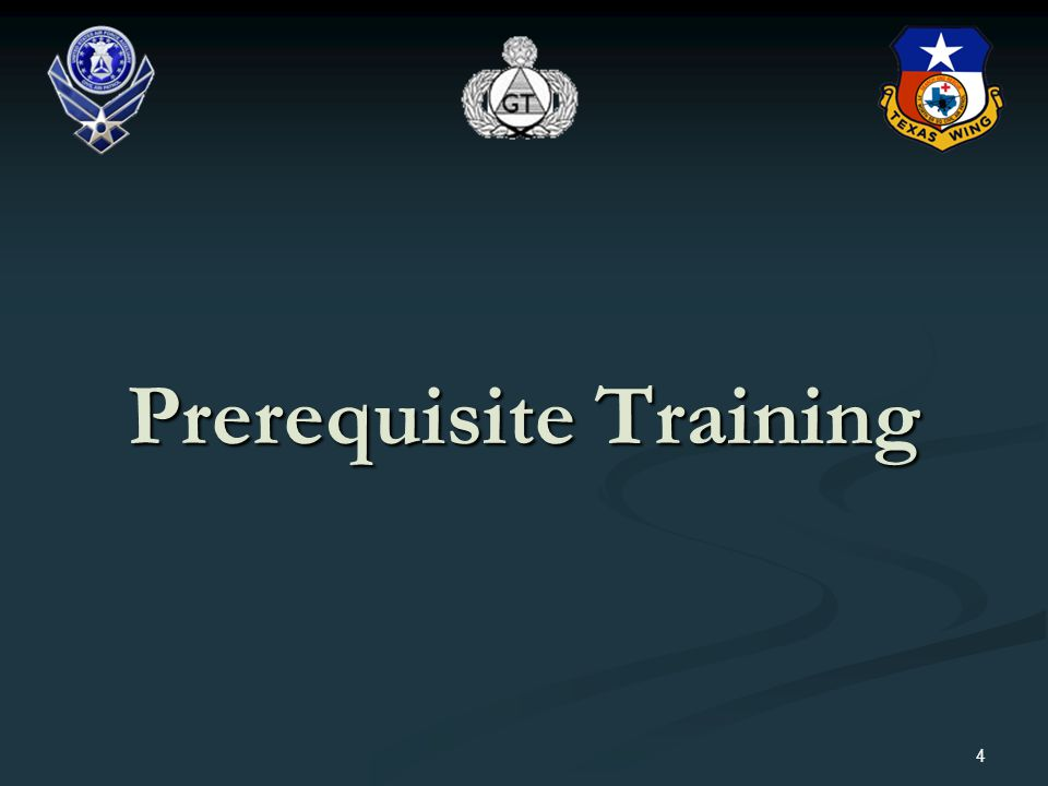 Prerequisite Training