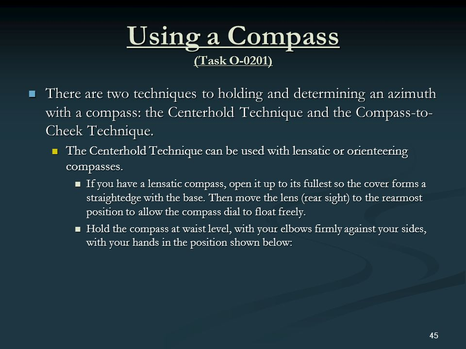 Using a Compass (Task O-0201)