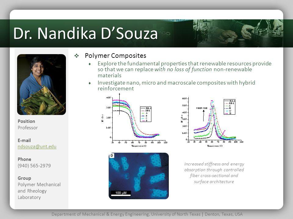 Dr. Nandika D'Souza Polymer Composites
