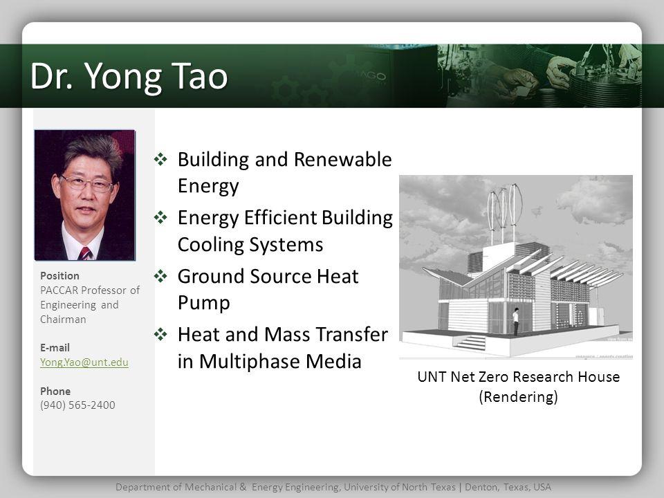 UNT Net Zero Research House