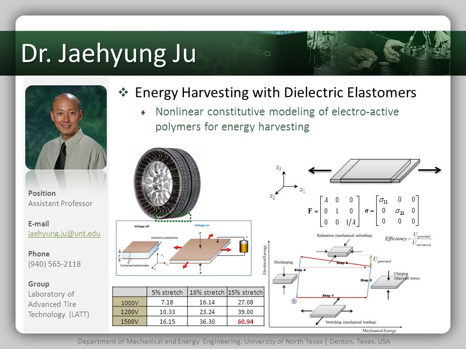 Dr. Jaehyung Ju Energy Harvesting with Dielectric Elastomers