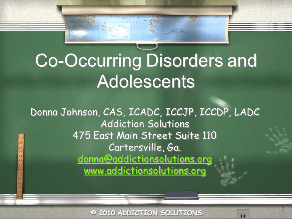 Co-Occurring Disorders and Adolescents