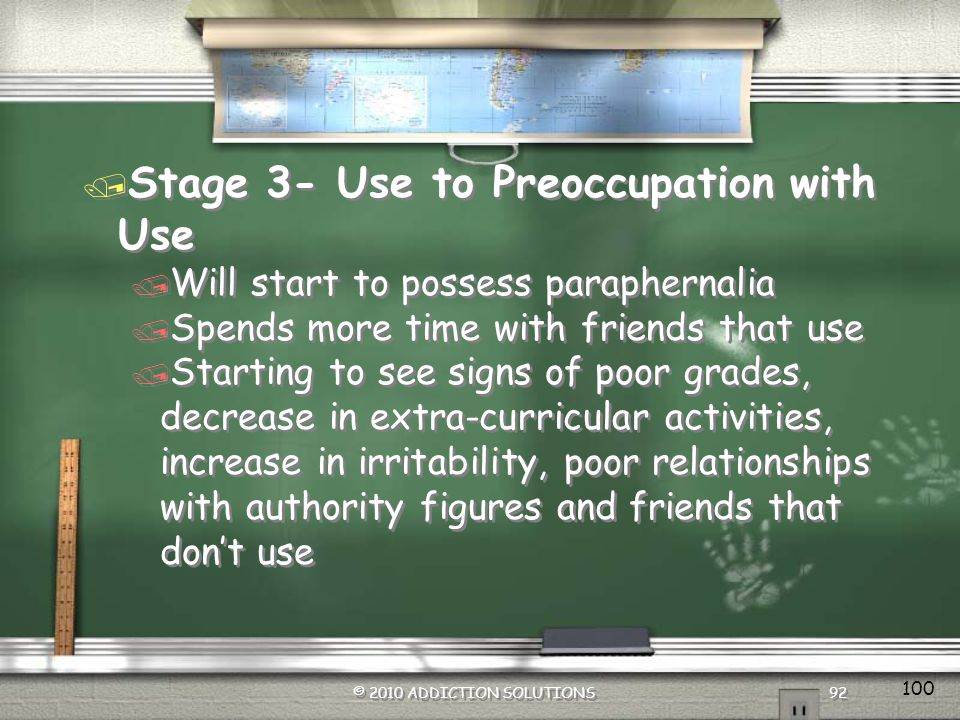 Stage 3- Use to Preoccupation with Use