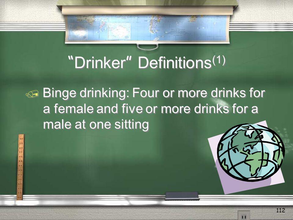 Drinker Definitions(1)