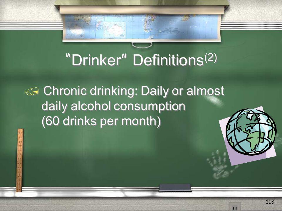 Drinker Definitions(2)