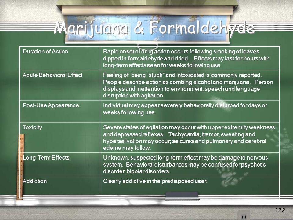 Marijuana & Formaldehyde