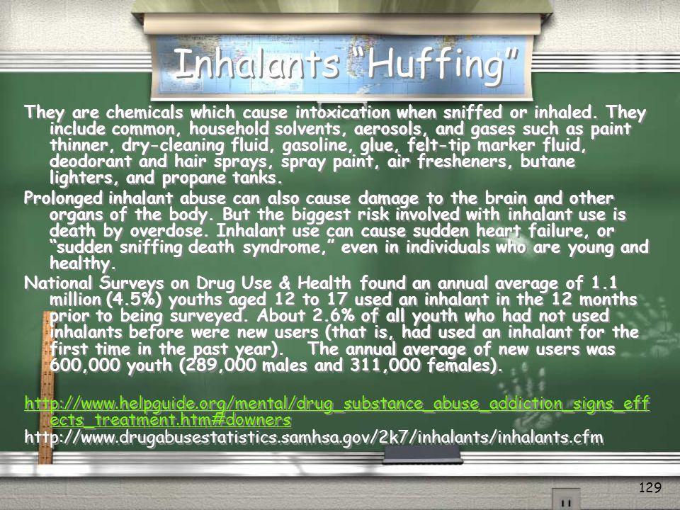 Inhalants Huffing