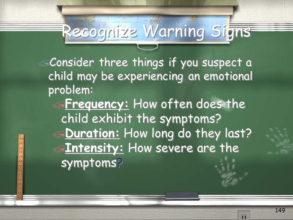 Recognize Warning Signs
