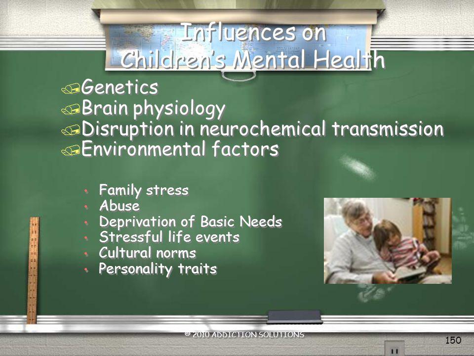 Influences on Children's Mental Health