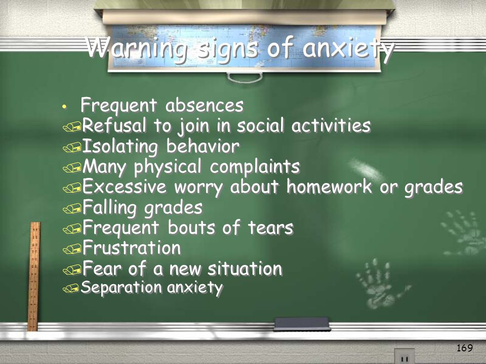 Warning signs of anxiety