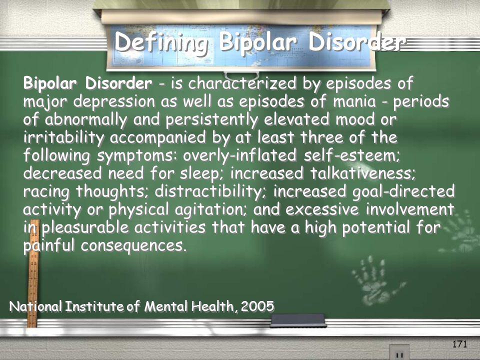 Defining Bipolar Disorder