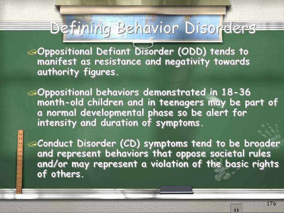 Defining Behavior Disorders