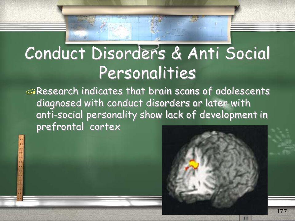 Conduct Disorders & Anti Social Personalities