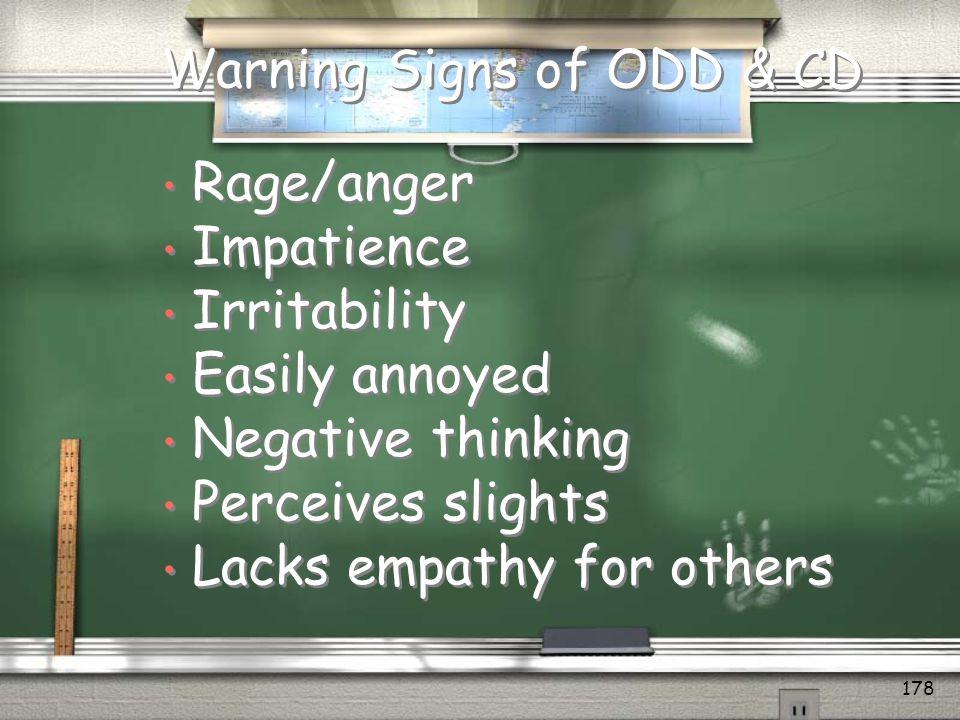 Warning Signs of ODD & CD
