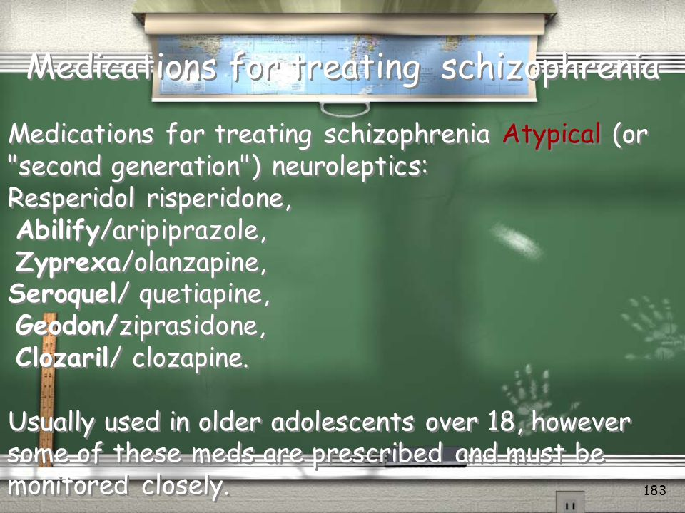 Medications for treating schizophrenia