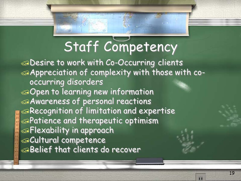 Staff Competency Desire to work with Co-Occurring clients