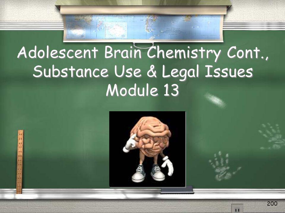Adolescent Brain Chemistry Cont