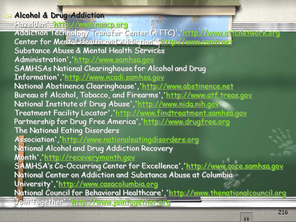 Alcohol & Drug Addiction Hazelden , http://www. naacp