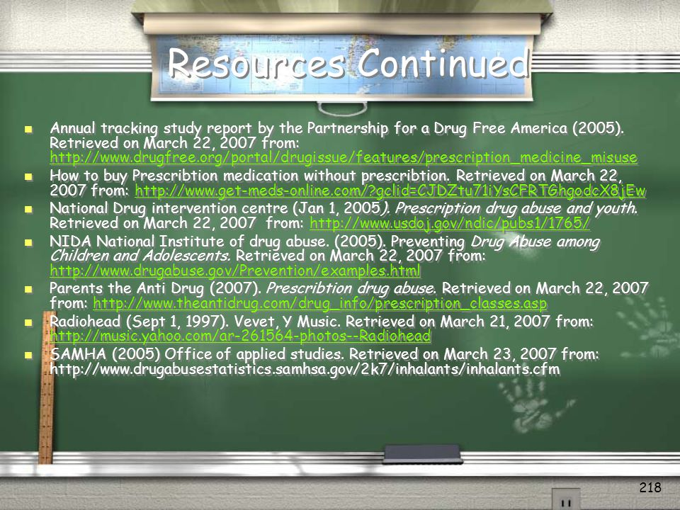 Resources Continued