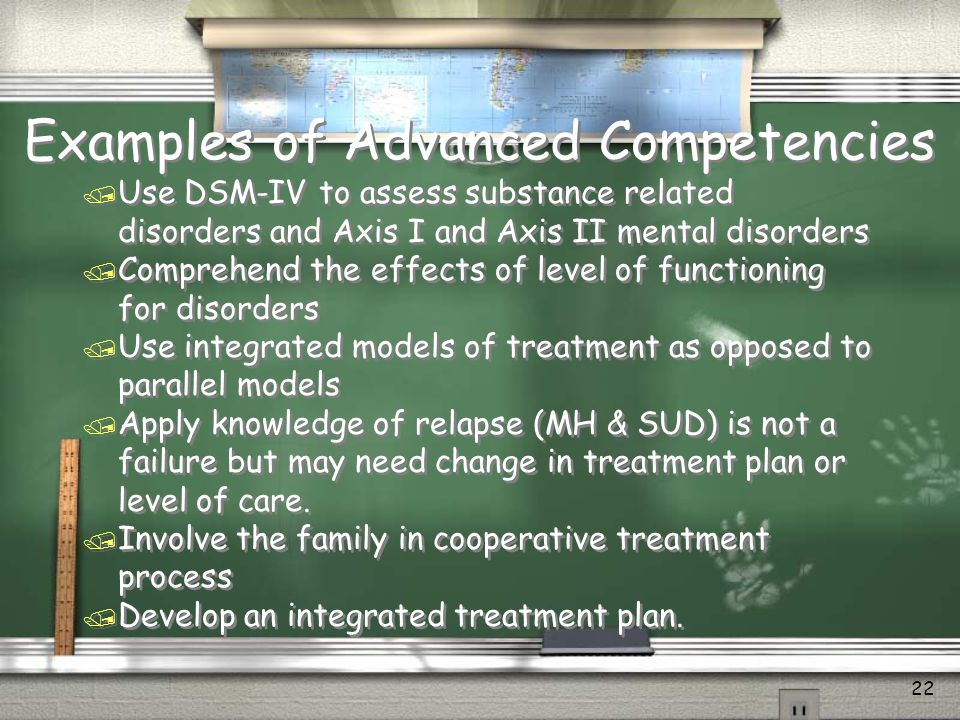 Examples of Advanced Competencies