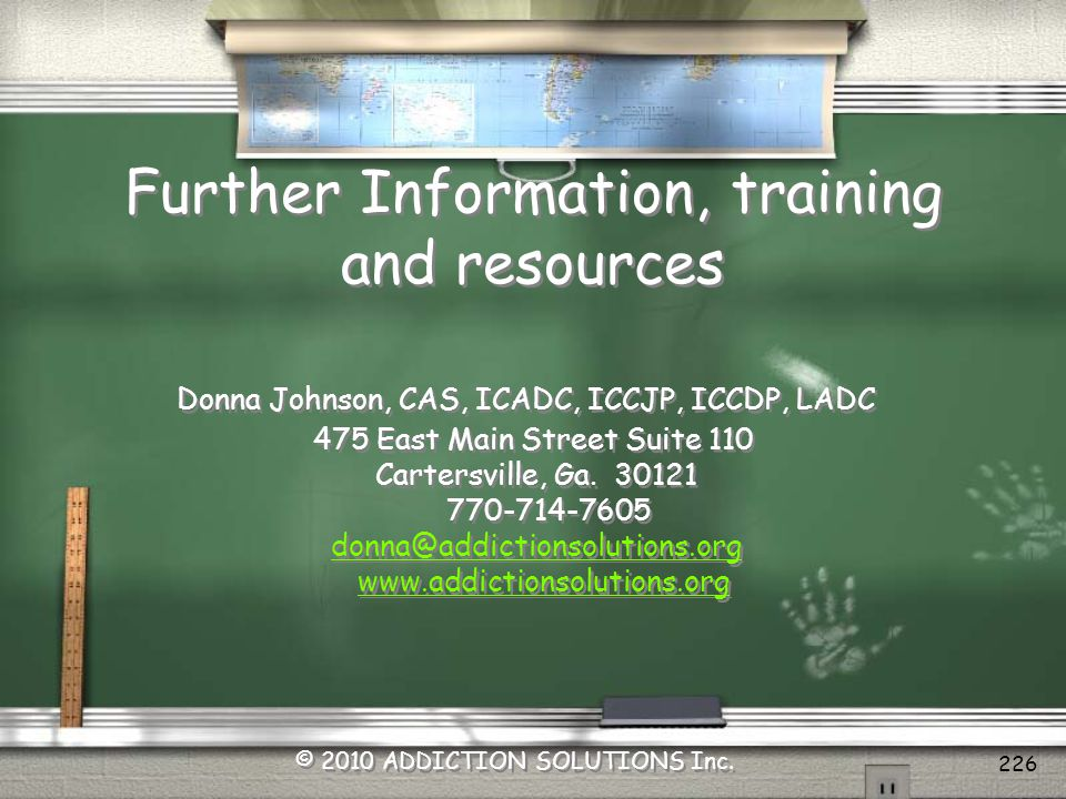 Further Information, training and resources