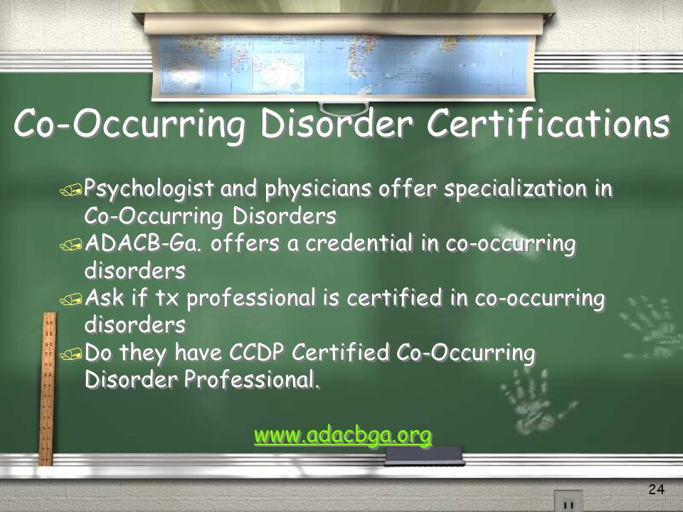 Co-Occurring Disorder Certifications