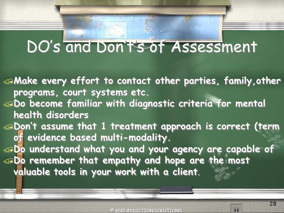 DO's and Don't's of Assessment