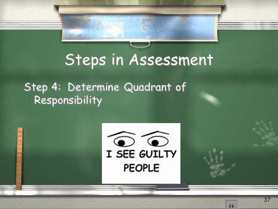Steps in Assessment Step 4: Determine Quadrant of Responsibility
