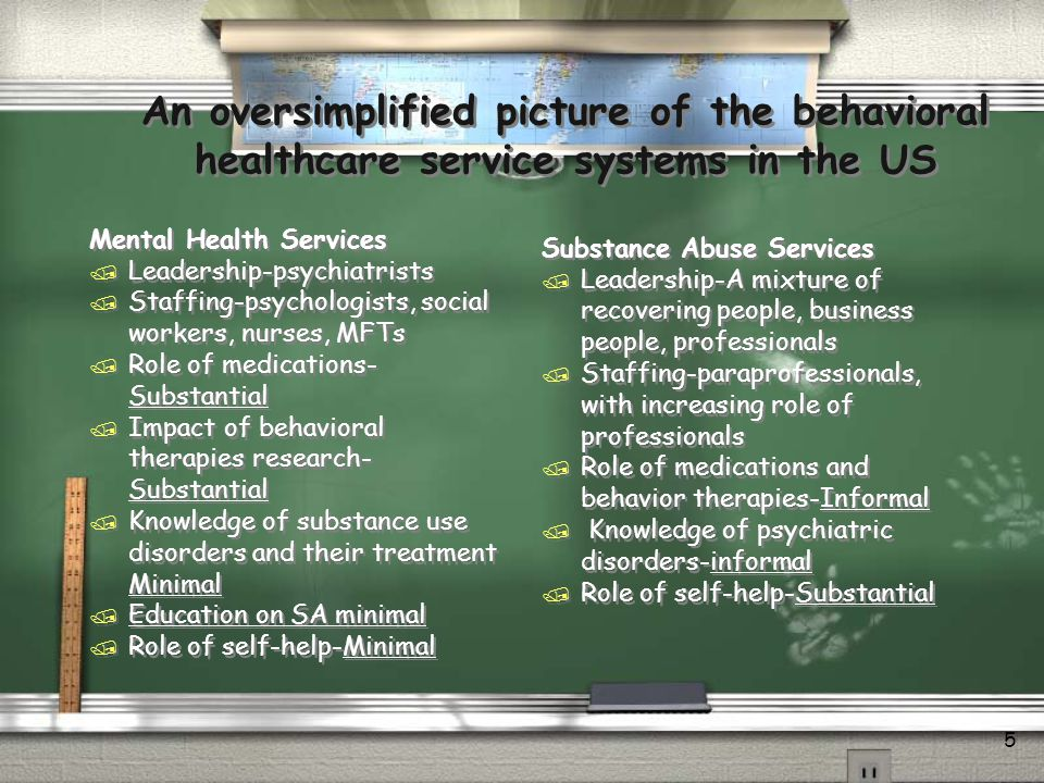 An oversimplified picture of the behavioral healthcare service systems in the US