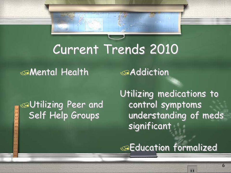 Current Trends 2010 Mental Health Utilizing Peer and Self Help Groups