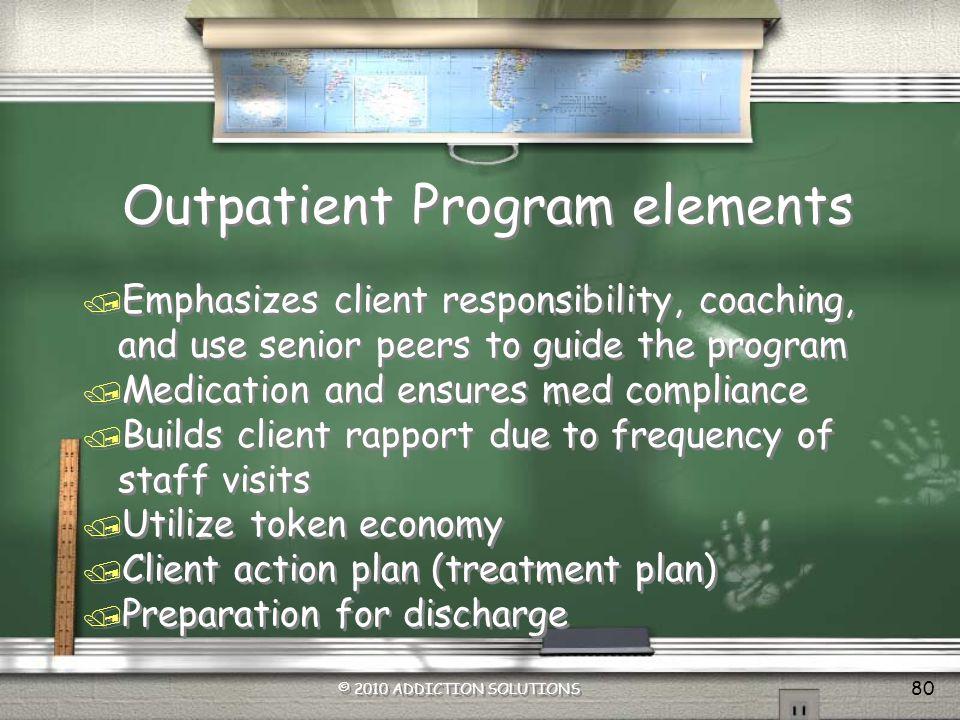 Outpatient Program elements