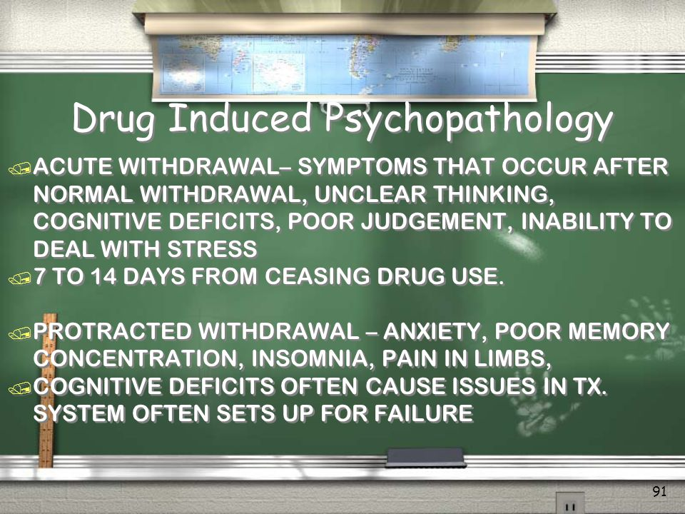 Drug Induced Psychopathology