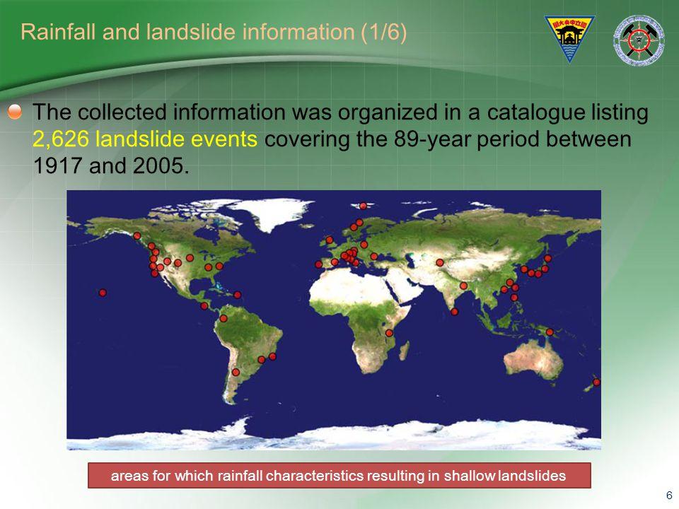 Rainfall and landslide information (1/6)