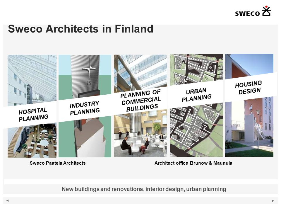 Sweco Architects in Finland
