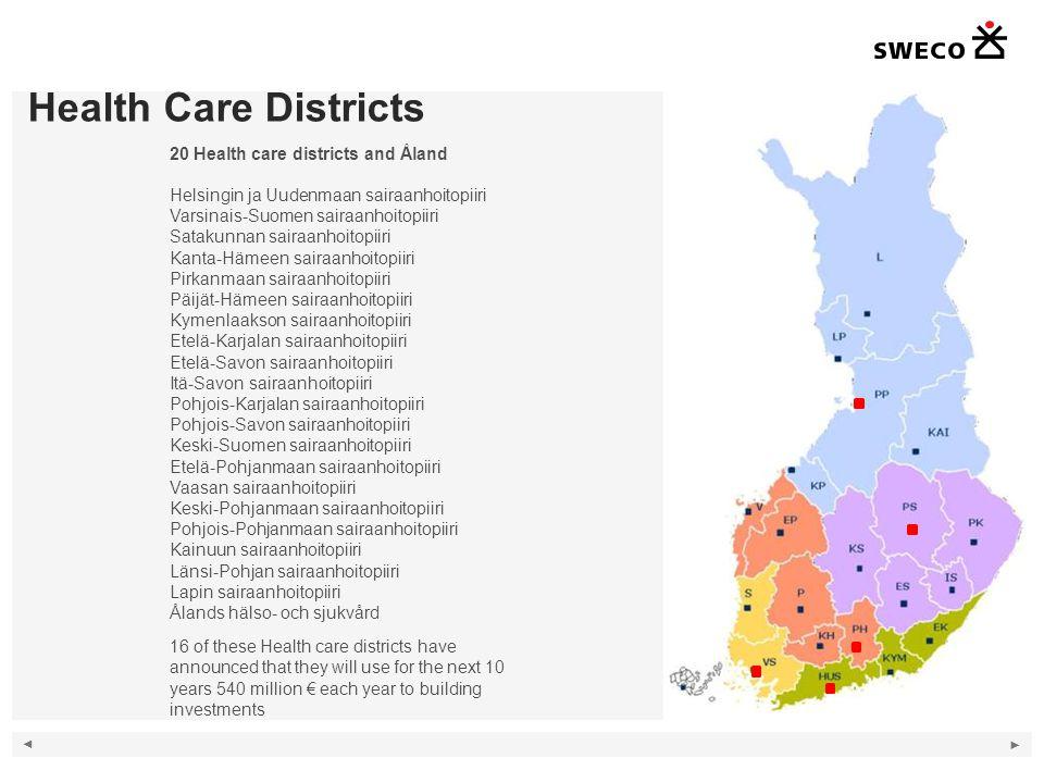 Health Care Districts 8 20 Health care districts and Åland