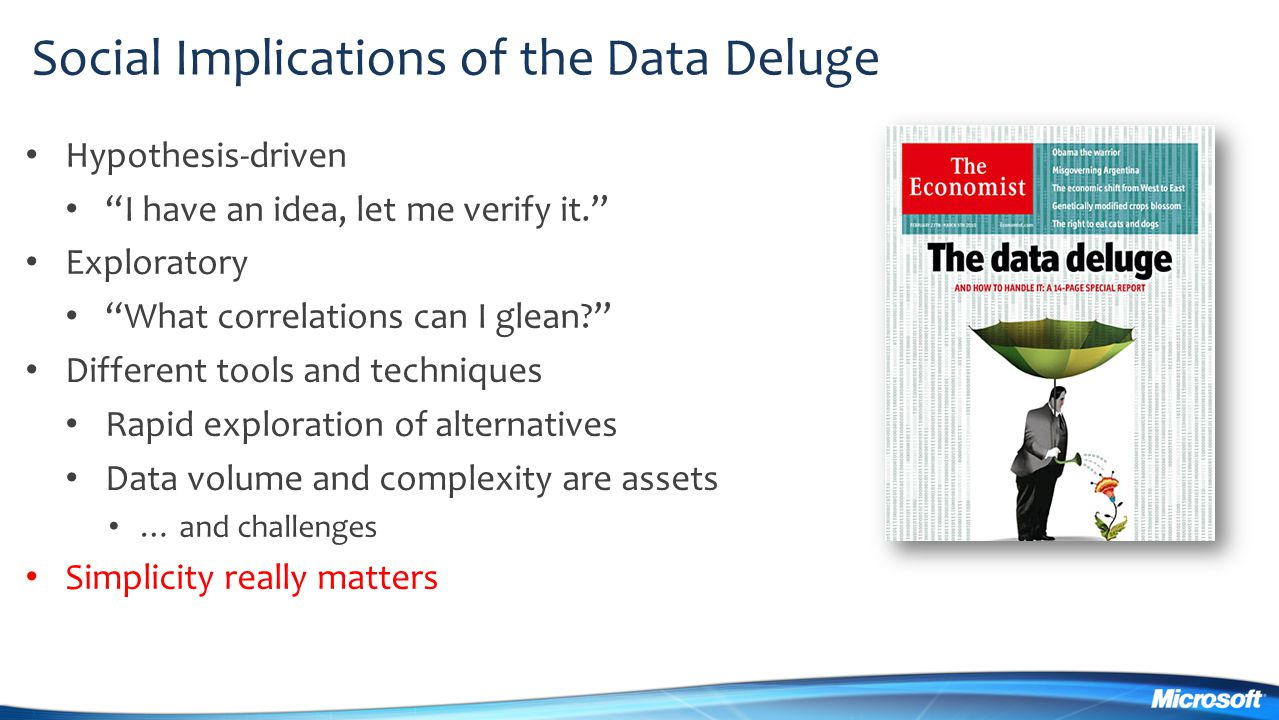 Social Implications of the Data Deluge
