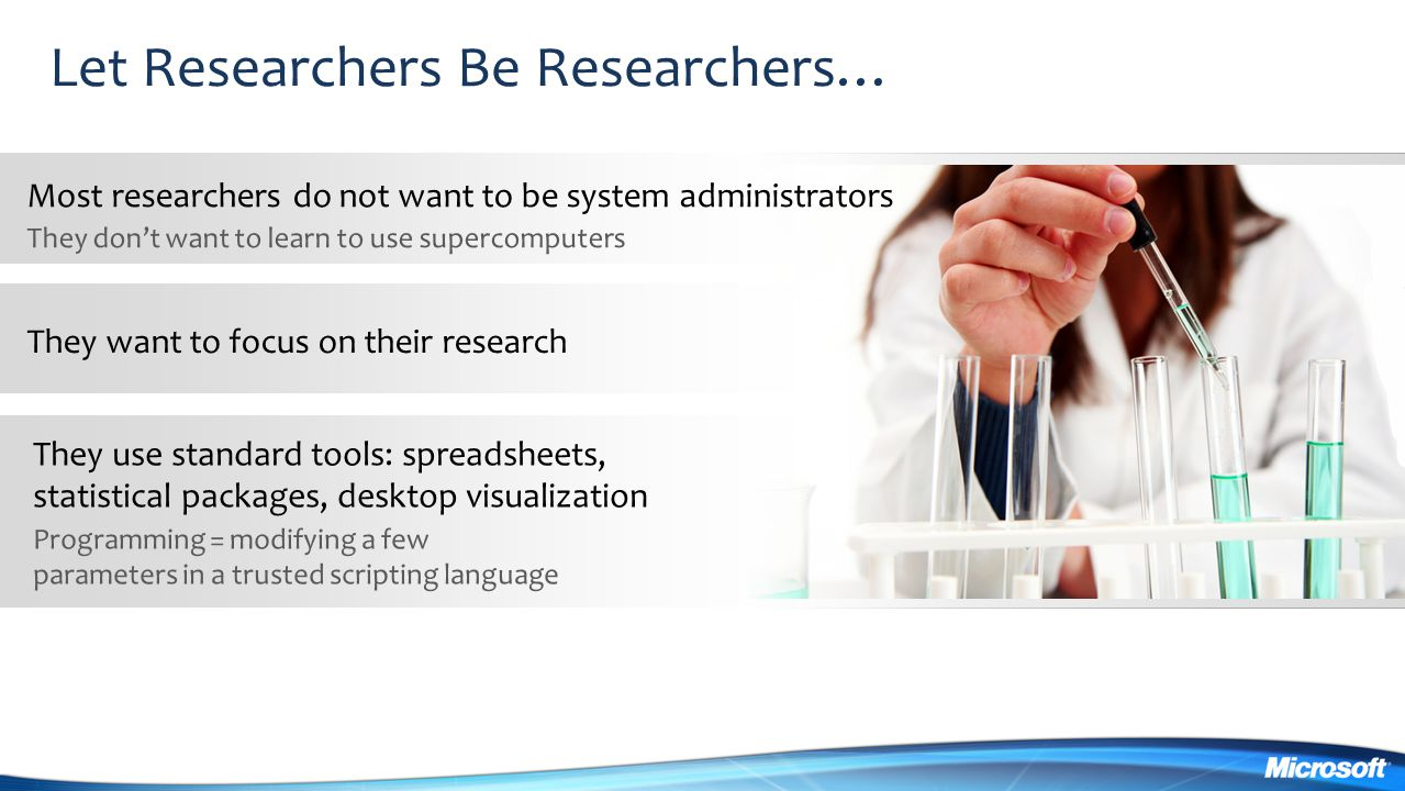 Let Researchers Be Researchers…