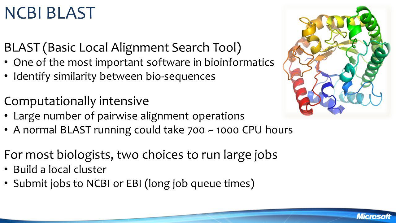 NCBI BLAST BLAST (Basic Local Alignment Search Tool)