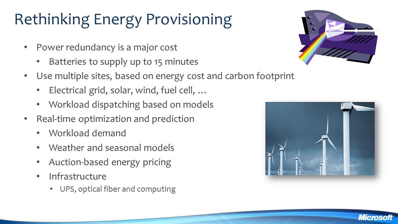 Rethinking Energy Provisioning