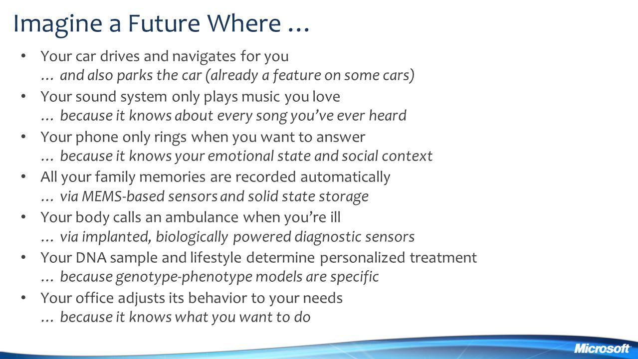 Imagine a Future Where …