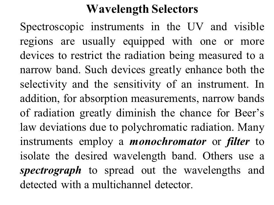 Wavelength Selectors