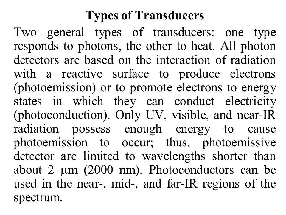 Types of Transducers
