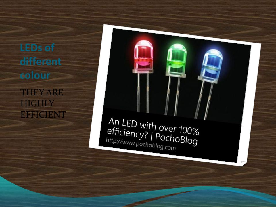 LEDs of different colour