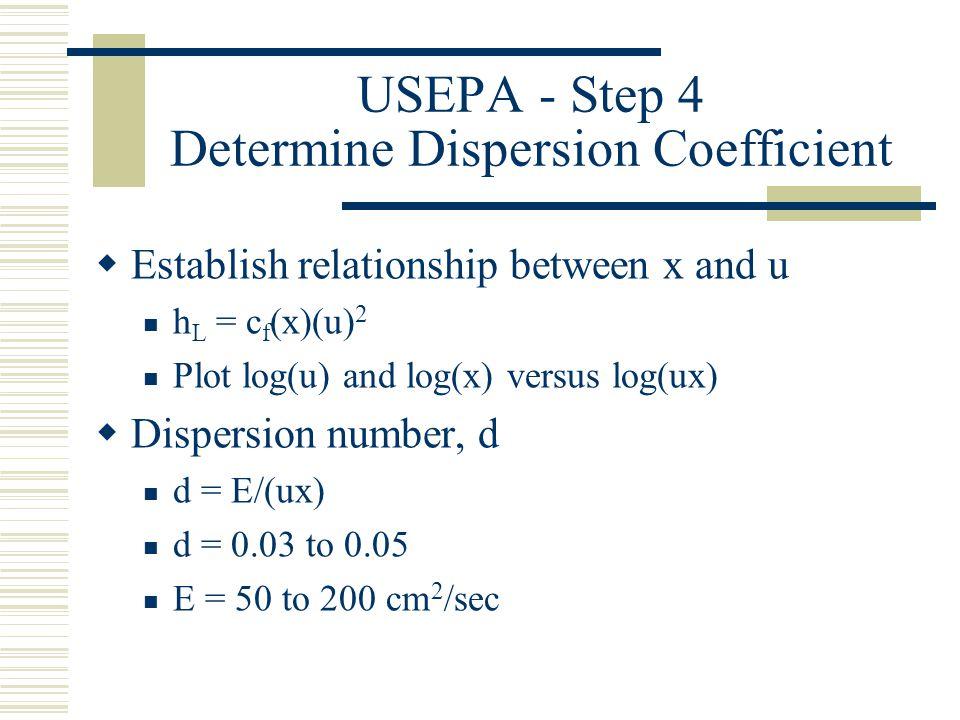 USEPA - Step 4 Determine Dispersion Coefficient