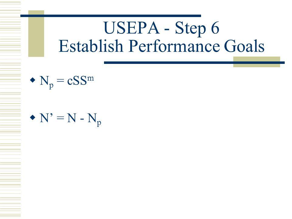 USEPA - Step 6 Establish Performance Goals