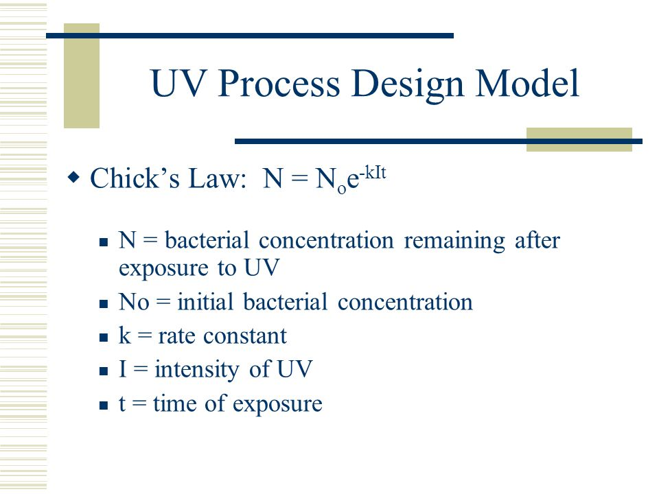 UV Process Design Model