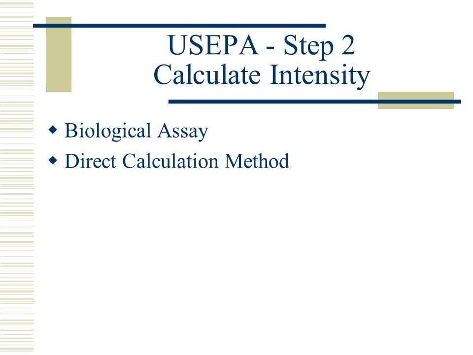USEPA - Step 2 Calculate Intensity