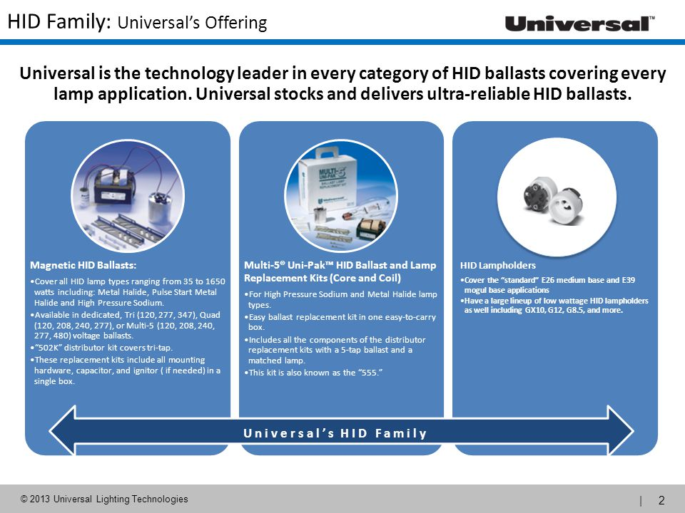 HID Family: Universal's Offering